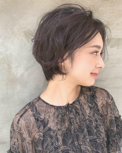 ショートスタイルも女性らしく☆|美容室【NOESALON】SOBUEのヘアスタイル
