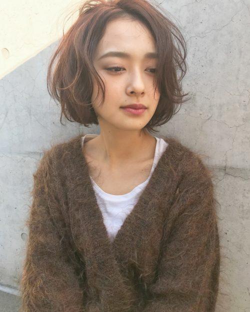 前髪なし 長めのショートスタイル☆|美容室【NOESALON】SOBUEのヘアスタイル