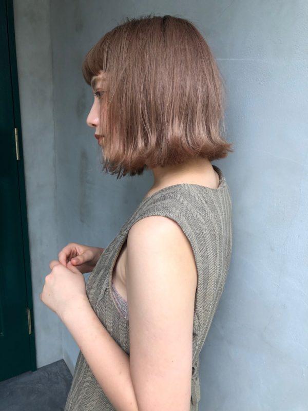 エヌドットナチュラルバームを使ったヘアスタイル
