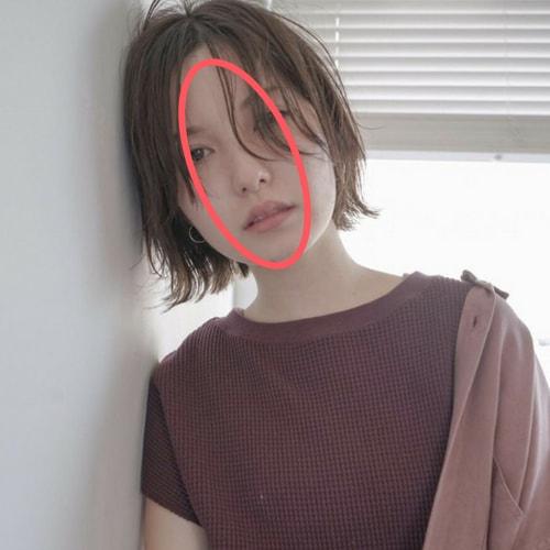 丸顔の人に似合う髪型