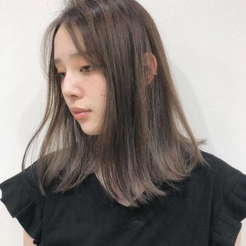 透明感のあるヘアカラー