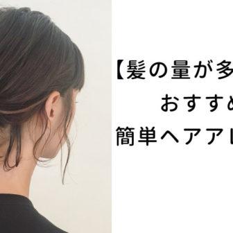 【髪の量が多い人】おすすめ簡単ヘアアレンジカタログ