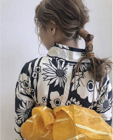 Yukata ponytail