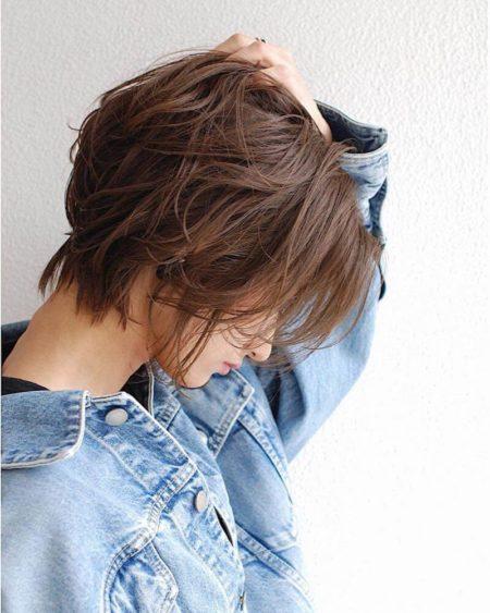 前髪なし ショートパーマ