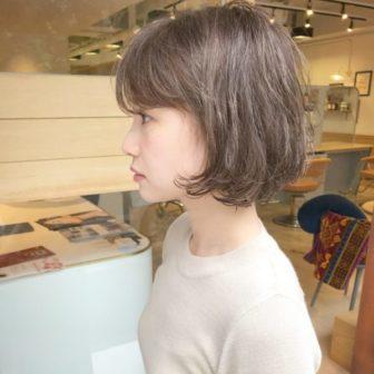 ニュアンスカールボブ|美容室【NOESALON】SOBUEのヘアスタイル