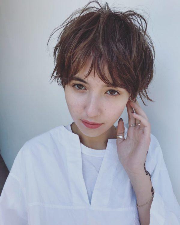 アーバンミニマッシュ|美容室【log】馬橋 達佳のヘアスタイル