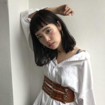 エフォートレスロブ。 美容室【log】馬橋 達佳のヘアスタイル