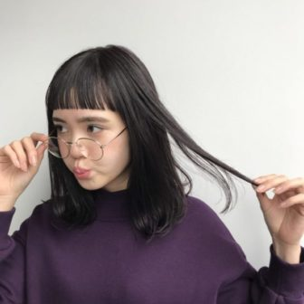 ソフトモードロブ。 美容室【log】馬橋 達佳のヘアスタイル