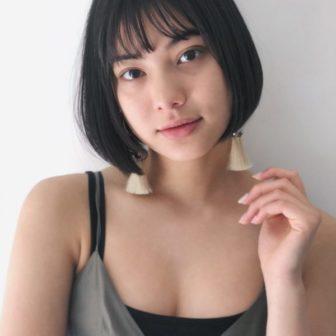 切りっぱなしボックスボブ 美容室【CIECA.】野元 亮太のヘアスタイル