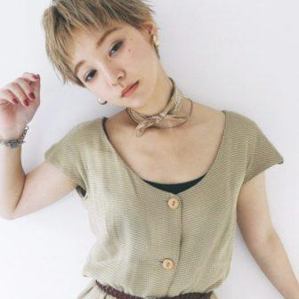 ハイトーンショート 美容室【CIECA.】野元 亮太のヘアスタイル