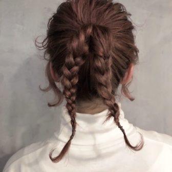 くせ毛風おしゃれ三つ編みポニーテール|【CIECA.】野元亮太のヘアスタイル・ヘアアレンジ・髪型・ヘアカタログ|LALA[ララ]