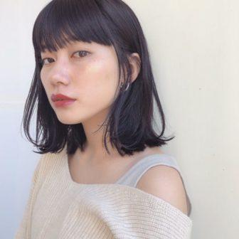 黒髪ロブ|【GARDEN omotesando】 Momo のヘアカタログ|LALA [ララ]