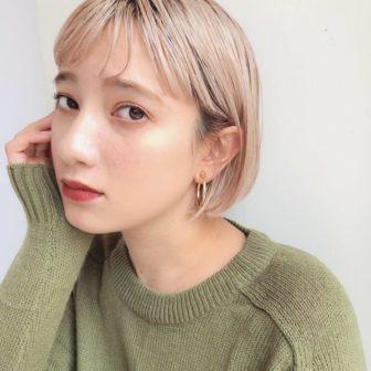 ハイトーン×ミニボブ|【GARDEN omotesando】 Momo のヘアカタログ|LALA [ララ]