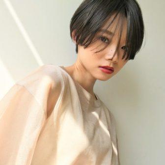 万能な前髪で3パターンのハンサムショートヘア|【GARDEN harajuku】 高橋 苗のヘアスタイル|ヘアカタログLALA [ララ]