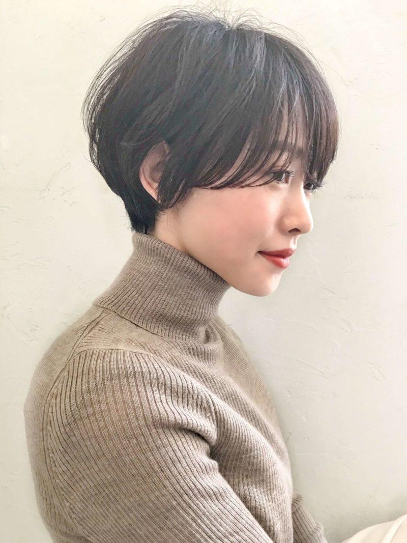 黒髪マッシュショート|美容室 アンアミ キチジョウジ(Un ami Kichijoji)スタイリスト岸 直美のヘアスタイル