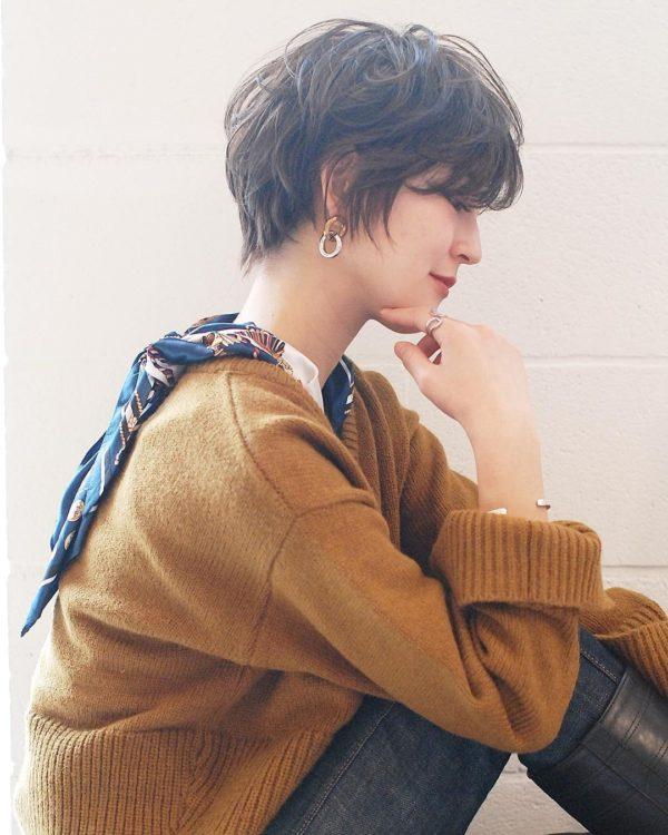 マッシュショート×パーマ|【SHE DAIKANYAMA】 丸岡 奈央のヘアカタログ