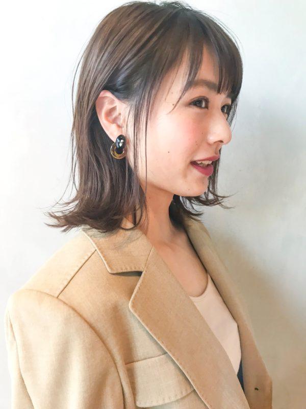 ナチュラル外ハネミディアム|アンアミ キチジョウジ(Un ami Kichijoji)スタイリスト岸 直美のヘアスタイル画像 【サイド】