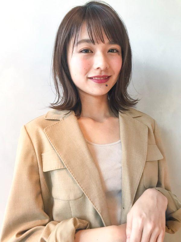 ナチュラル外ハネミディアム|アンアミ キチジョウジ(Un ami Kichijoji)スタイリスト岸 直美のヘアスタイル画像 【フロント】