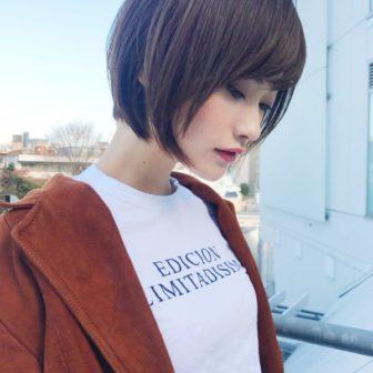 大人可愛い前下がりショートボブスタイル|【GARDEN harajuku】 高橋 苗のヘアカタログ|LALA [ララ]