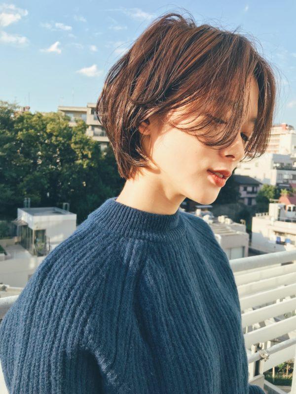 大人カジュアルショートボブ|【GARDEN harajuku】 高橋 苗のヘアスタイル画像 サイド