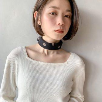 まとまるつるんもボブ|【Un ami kichijoji】 岸 直美のヘアスタイル|ヘアカタログLALA [ララ]