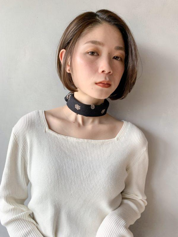 まとまるつるんもボブ|【Un ami kichijoji】 岸 直美のヘアスタイル