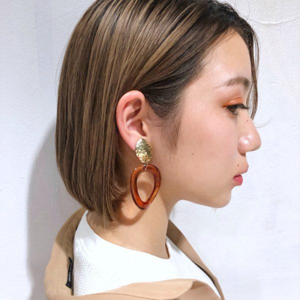 切りっぱなしボブ × ハイ透明感カラー 【GARDEN Tokyo】今野 佑哉のヘアスタイル・ヘアアレンジ・髪型 LALA[ララ]