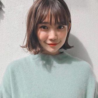 ニュアンス外ハネボブ|【GARDEN harajuku】 高橋 苗のヘアスタイル・ヘアアレンジ・髪型|ヘアカタログLALA [ララ]