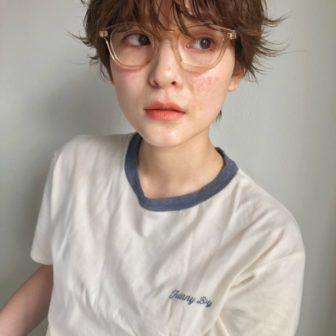 ニュアンスパーマ ハンサムショート|【aoi.】濵﨑 結実子のヘアスタイル・ヘアアレンジ・髪型|LALA[ララ]