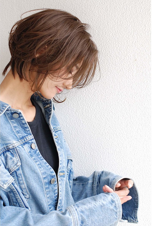ラフな質感のショートヘア|代官山の美容室 シー ダイカンヤマ(SHE DAIKANYAMA)スタイリスト丸岡 奈央のヘアスタイル