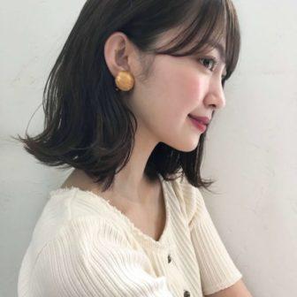 耳かけ外ハネボブ|【Un ami kichijoji】 岸 直美のヘアスタイル・髪型|ヘアカタログLALA [ララ]
