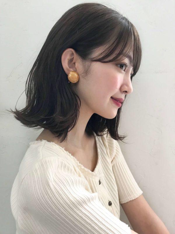耳かけ外ハネボブ|アンアミ キチジョウジ(Un ami Kichijoji)スタイリスト岸 直美のヘアスタイル画像