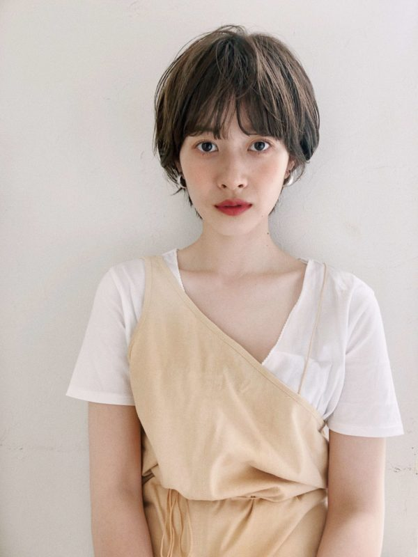 ワイドバングマッシュパーマショート|ジョエミ バイ アンアミ(joemi by Un ami )スタイリスト大久保 瞳のヘアスタイル画像 フロント