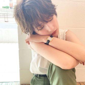 マッシュショート×ラフパーマ|【SHE DAIKANYAMA】 丸岡 奈央のヘアスタイル・ヘアアレンジ・髪型|ヘアカタログLALA [ララ]