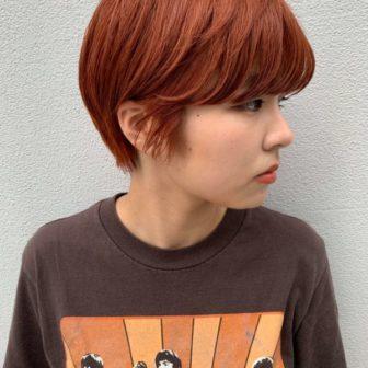 オレンジショート|【GARDEN harajuku】 椛沢 柚希(カバサワ ユズキ)のヘアスタイル・ヘアアレンジ・髪型|ヘアカタログLALA [ララ]