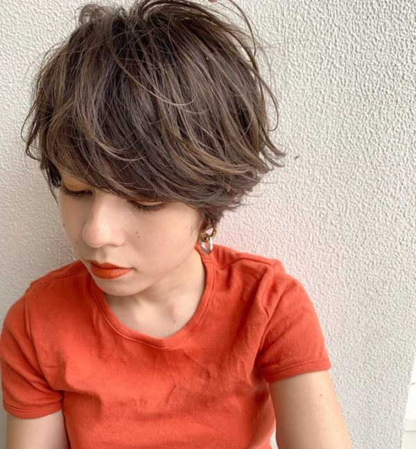 厚め前髪×品のあるショートヘア