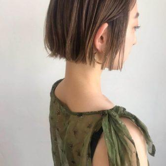 ハイライトベージュ ミニボブ|【KATE】KARENのヘアスタイル・ヘアアレンジ・髪型|ヘアカタログLALA[ララ]