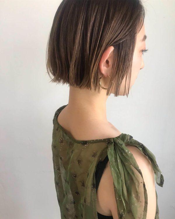 ハイライトベージュ ミニボブ|【KATE】KARENのヘアスタイル・ヘアアレンジ・髪型