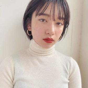 アッシュブラック×ショートボブ|【GARDEN omotesando】 Momo のヘアスタイル・ヘアアレンジ・髪型|ヘアカタログLALA [ララ]