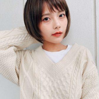 小顔見え前下がりショート|【GARDEN harajuku】 高橋 苗のヘアスタイル・ヘアアレンジ・髪型|ヘアカタログLALA [ララ]