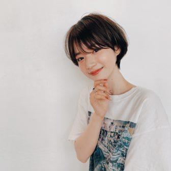 小顔コンパクトショート|【GARDEN harajuku】 高橋 苗のヘアスタイル・ヘアアレンジ・髪型|ヘアカタログLALA [ララ]