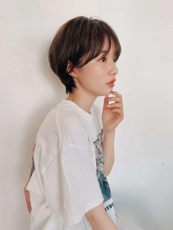 小顔コンパクトショート|ガーデンハラジュク(GARDEN harajuku)スタイリスト 高橋 苗(タカハシ ナエ)のヘアスタイル画像 サイド