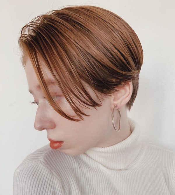 line short(ラインショート)|ガーデンハラジュク(GARDEN harajuku)スタイリストsenaのヘアスタイルサイド画像