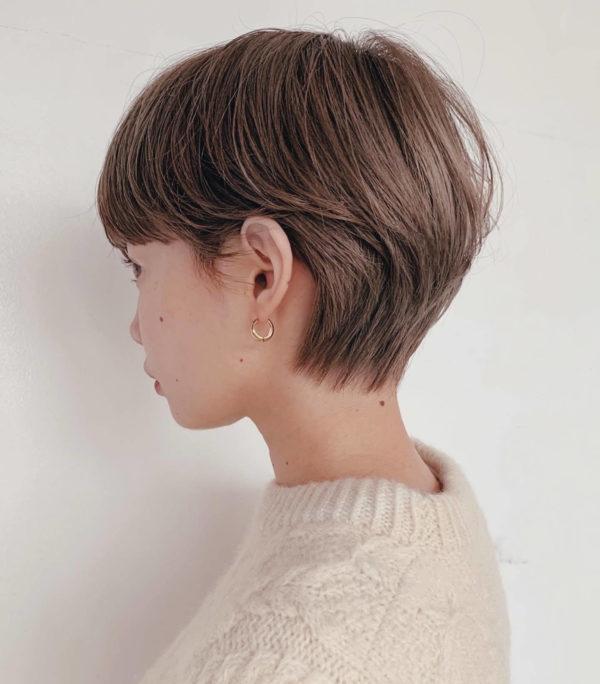 ハイトーンマッシュショート|ガーデンハラジュク(GARDEN harajuku)スタイリストsenaのヘアスタイルサイドバックの画像