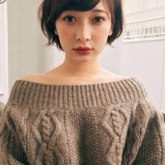 カジュアルでも女性らしい ひし形ショートボブ|原宿の美容室 ガーデンハラジュク(GARDEN harajuku)スタイリスト 高橋 苗(タカハシ ナエ)のヘアスタイル