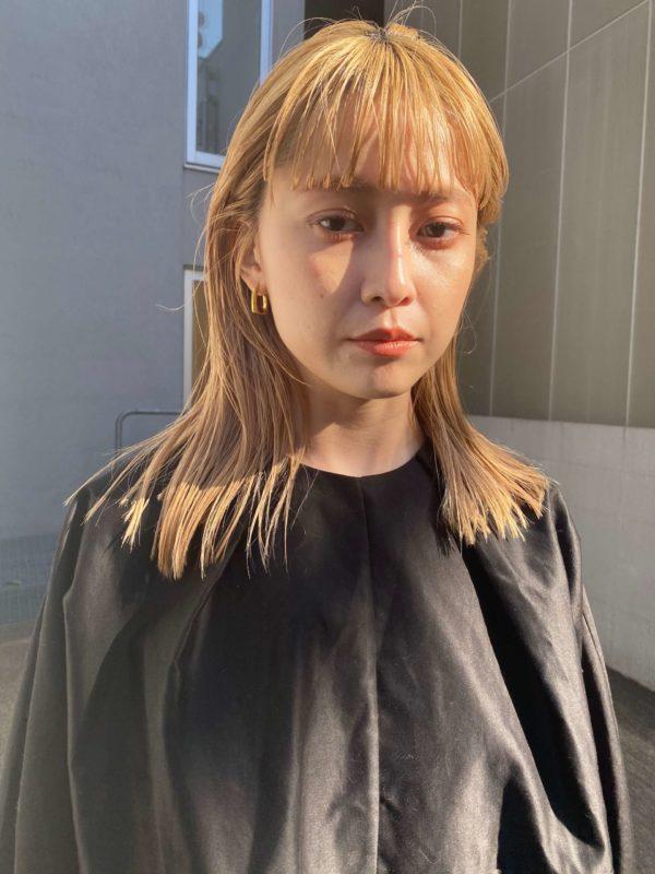 ハイトーンカラーに似合う前髪|SOIE (ソワ) スタイリスト柳原 弘樹のヘアスタイル