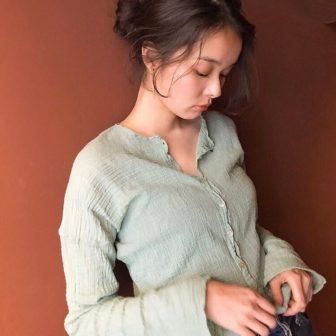 リップラインバング こなれお団子ヘアアレンジ|表参道の美容室 ダコタレイシー(dakota racy )スタイリスト村瀬 倫子のヘアスタイル