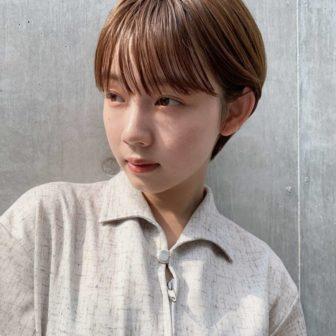シンプルマッシュショート|表参道の美容室 JENO (ジェノ)スタイリスト堀江 昌樹のヘアスタイル