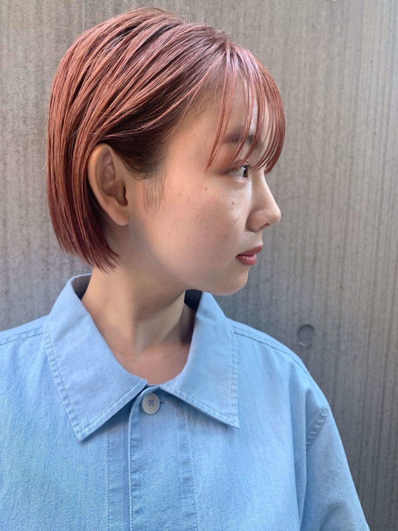 ミニボブ/ピンクカラー