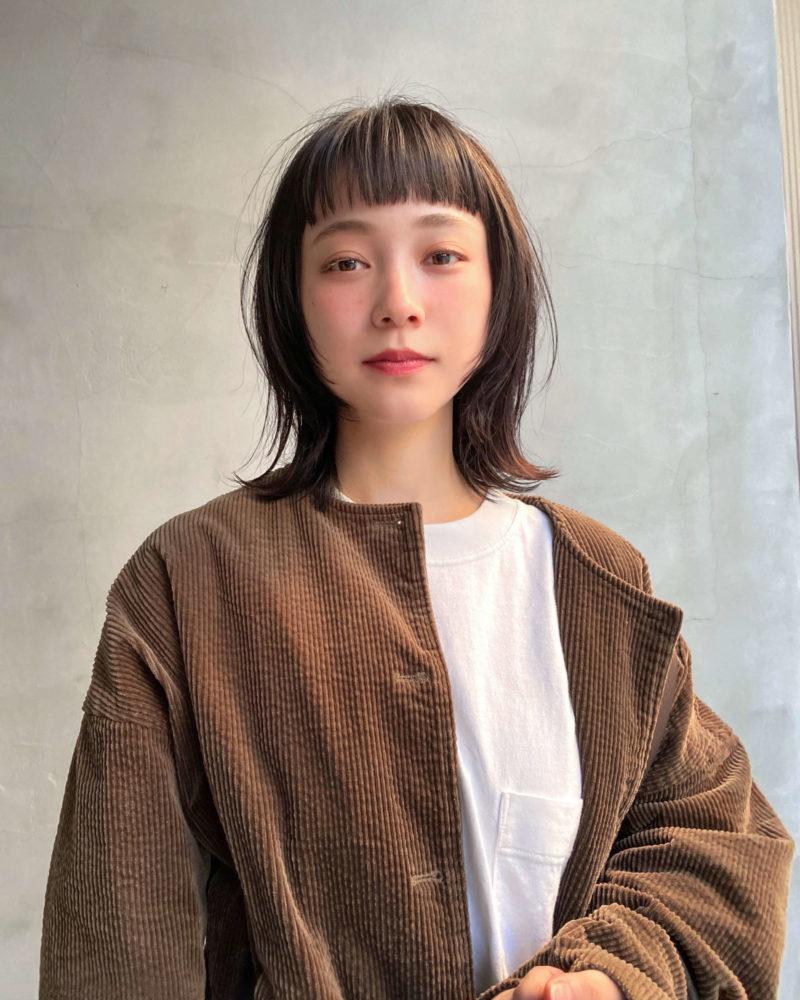 ミディアムウルフ|表参道の美容室CIECA. (シエカ)スタイリスト野元亮太のヘアスタイル